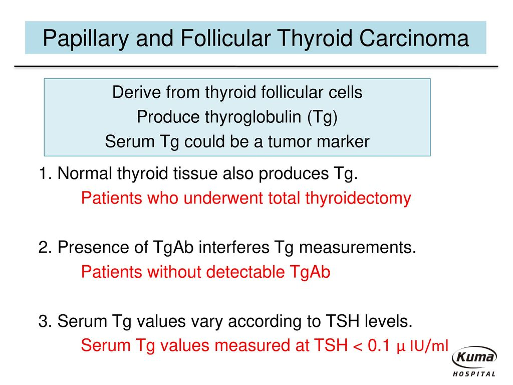 papillary thyroid cancer tsh levels