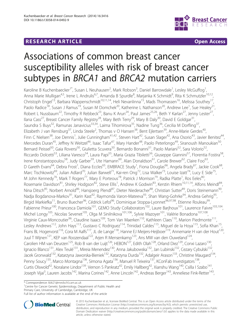 familial cancer of breast icd 10
