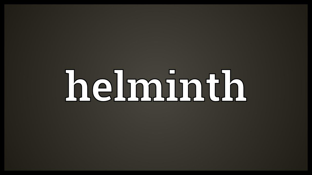 meaning for helminth)