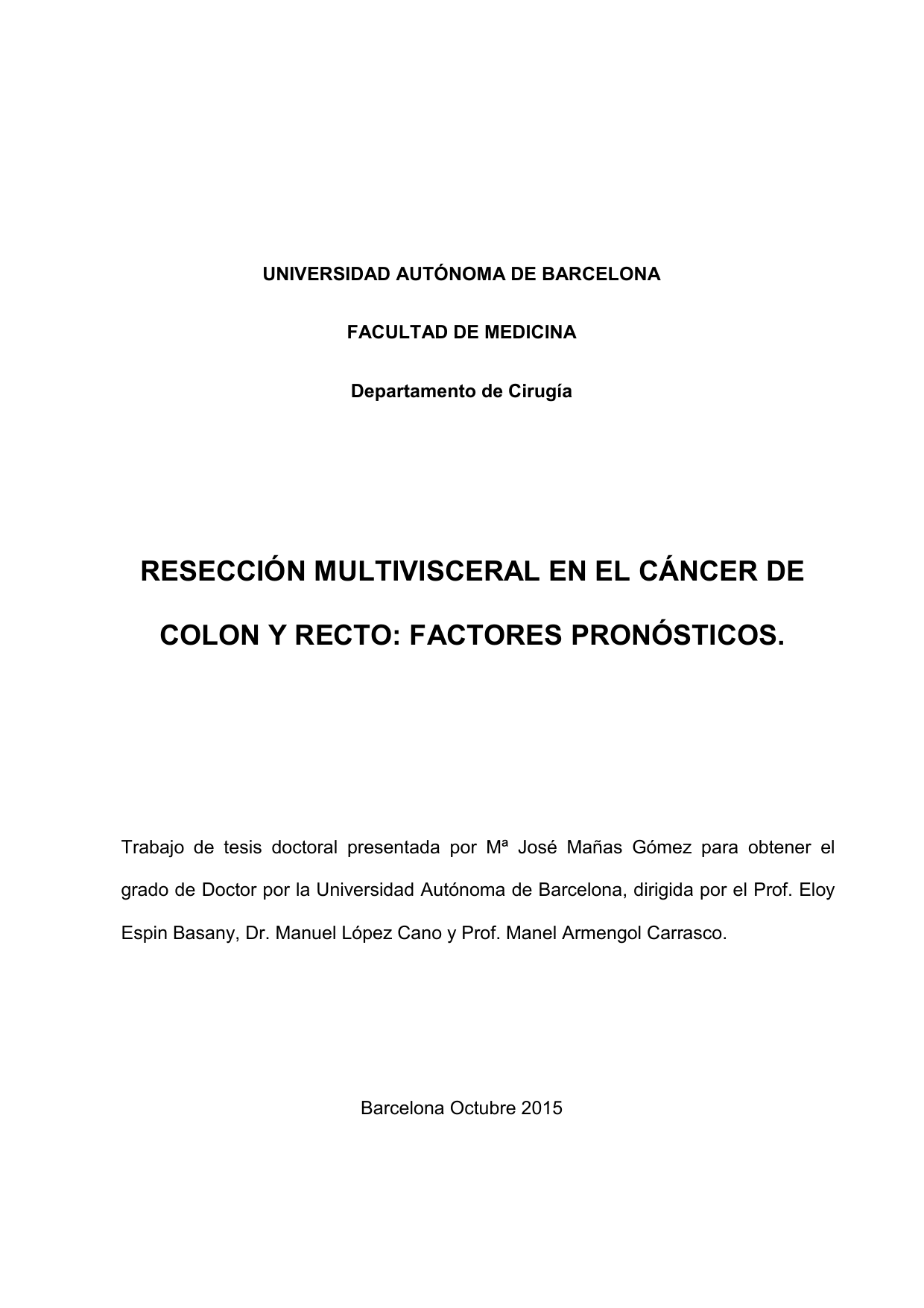 cancer de colon no operable)