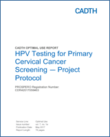 cervical cancer screening and hpv testing)