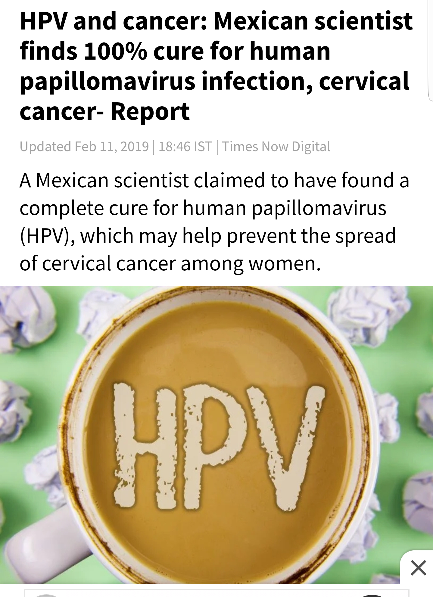 hpv cure coming soon)