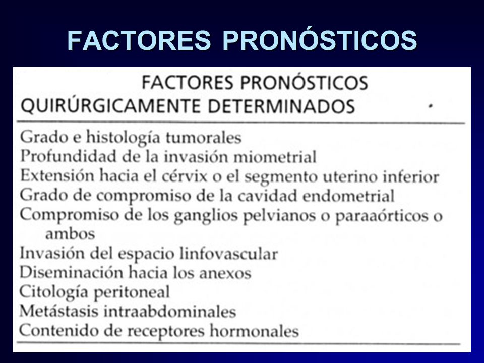 cancer endometrial pronostico)