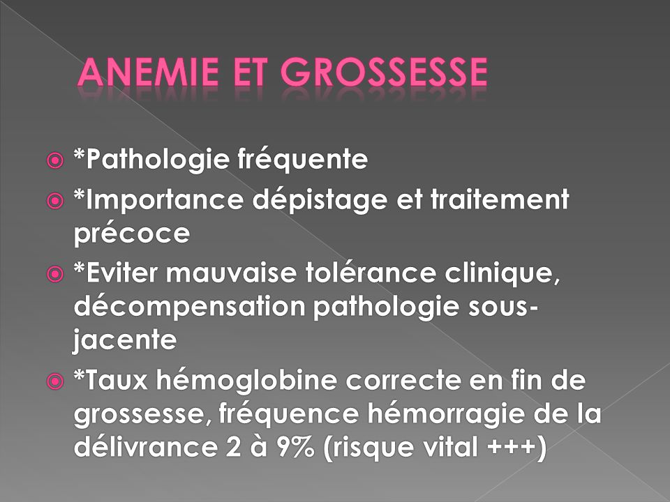 anemie 10 grossesse cancer abdominal in