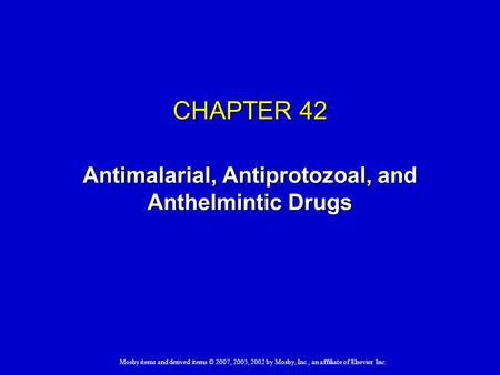 classification of anthelmintic drugs slideshare)