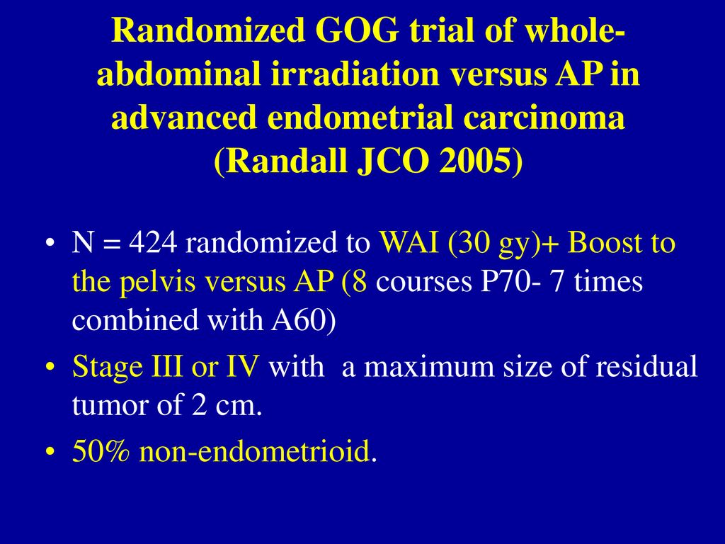 endometrial cancer jco