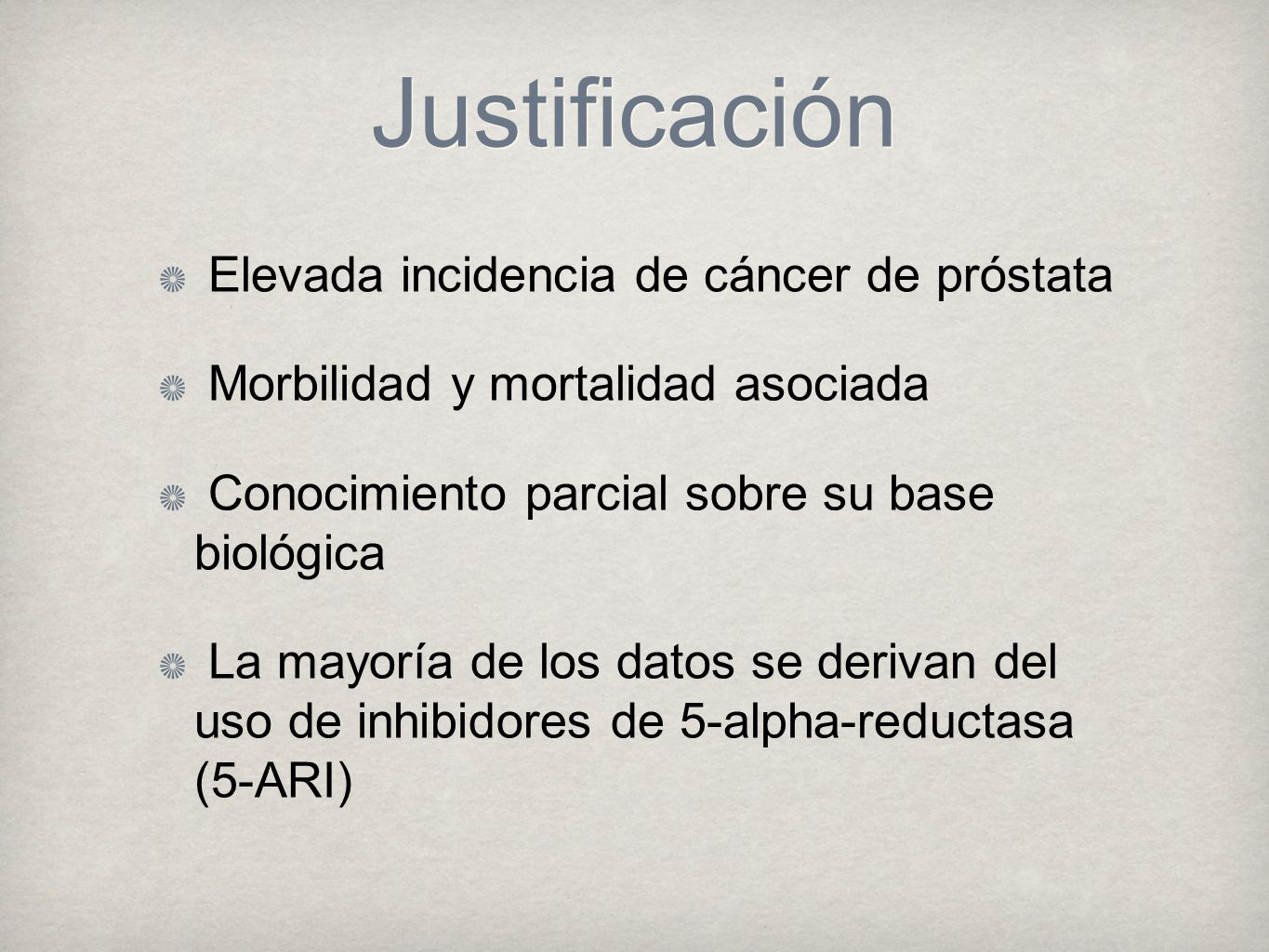 cancer de prostata justificacion