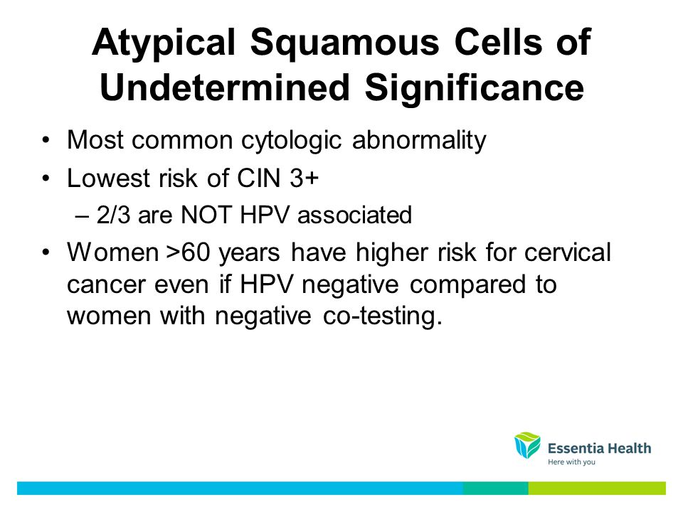 hpv high risk atypical squamous cells)