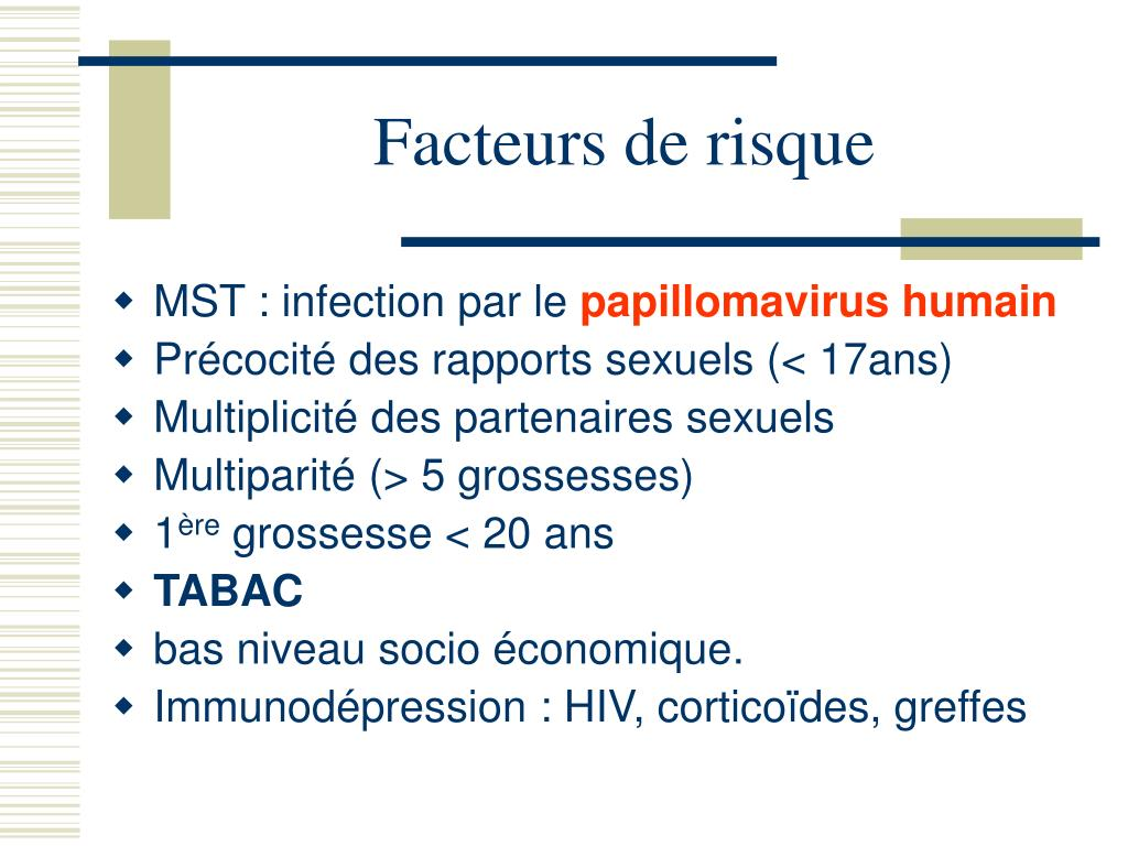 infection papillomavirus et grossesse
