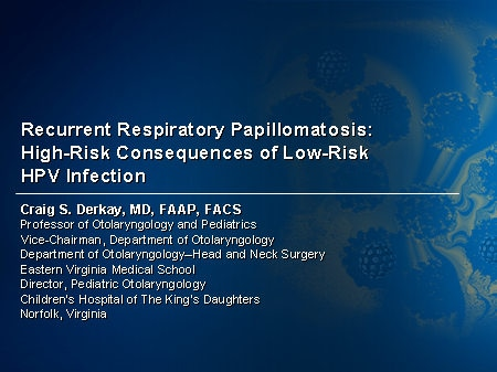 recurrent respiratory papillomatosis symptoms in adults