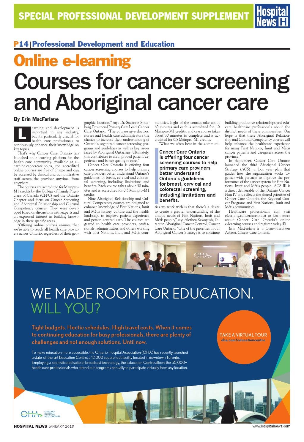 cancer care ontario e learning)