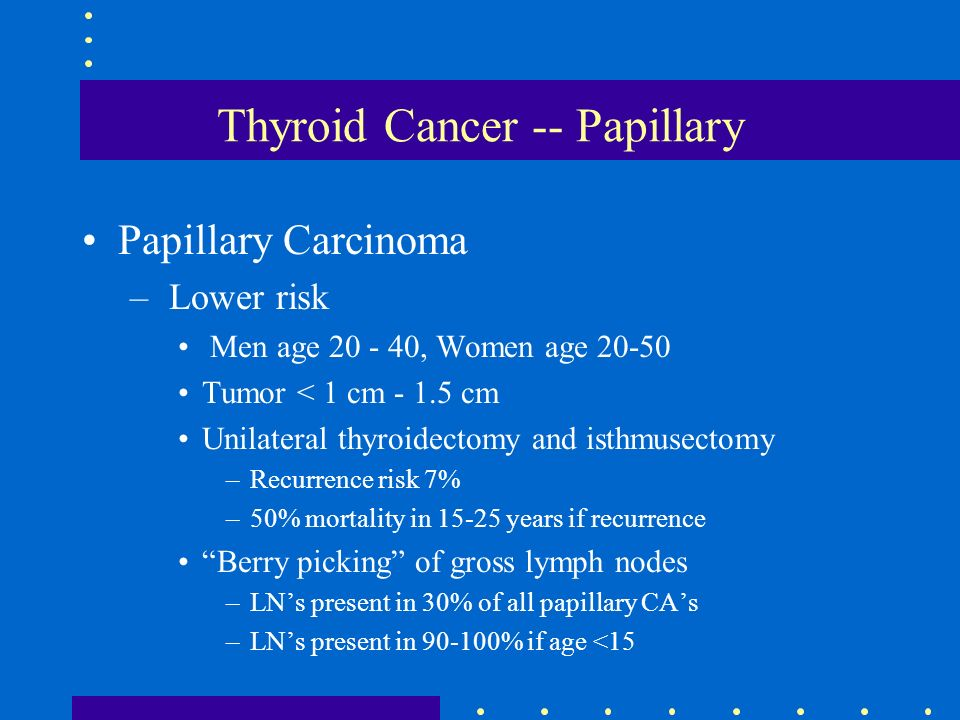 papillary thyroid cancer recurrence)