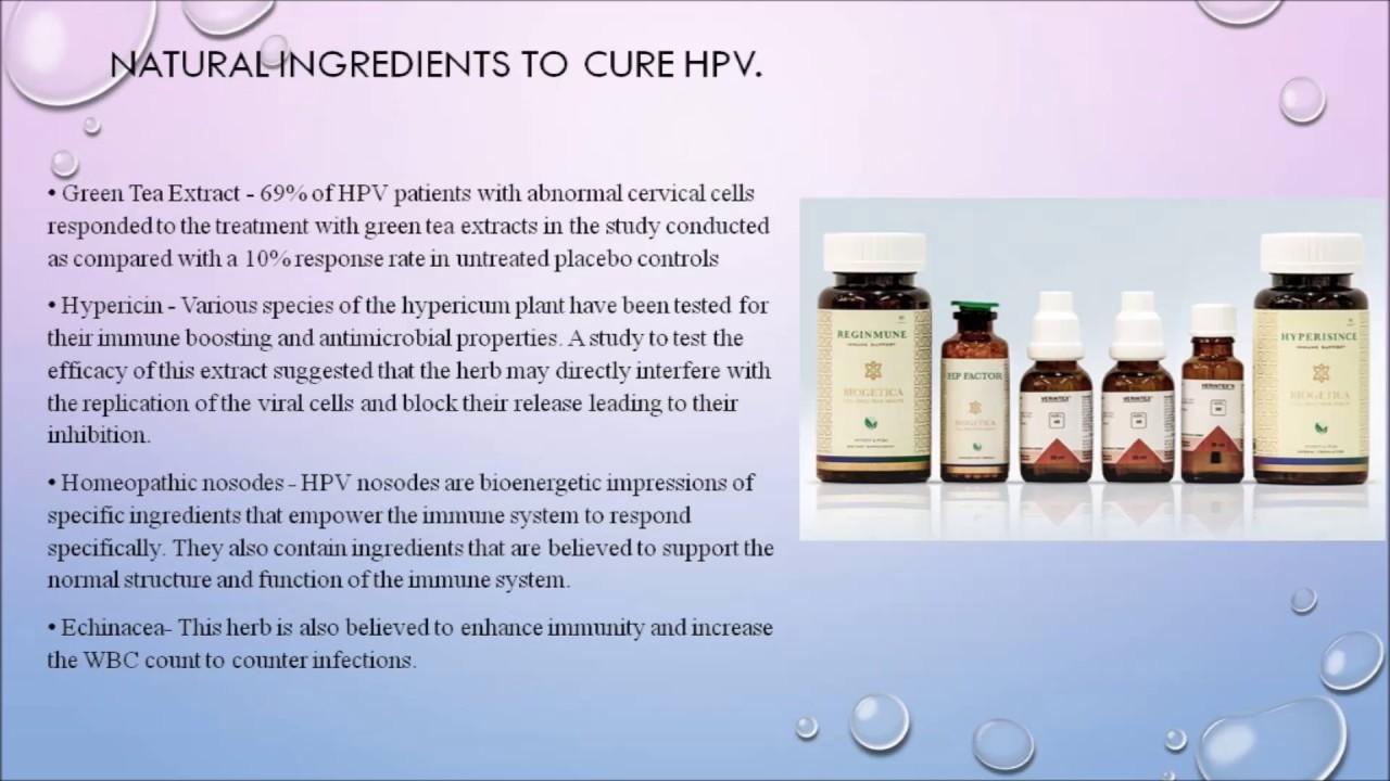 hpv virus homeopathic treatment)