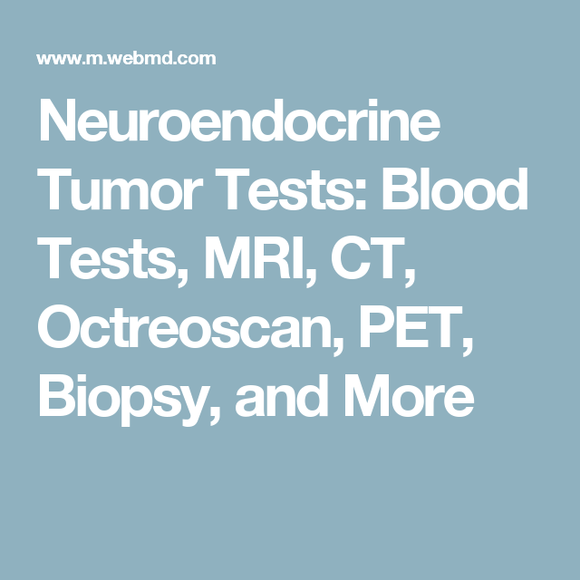 neuroendocrine cancer tests