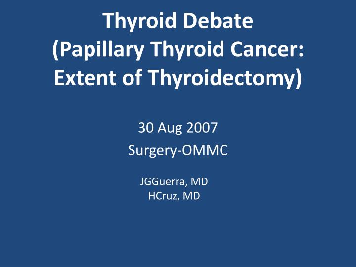 papillary thyroid cancer presentation hpv herpes labial