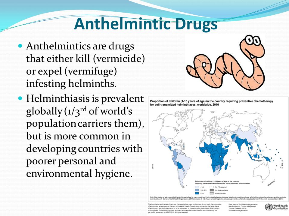 define anthelmintic drugs)