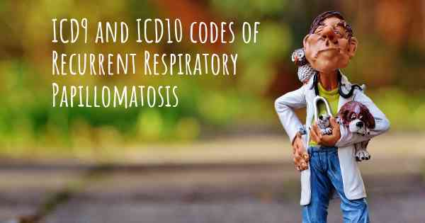 icd 10 code for respiratory papillomatosis