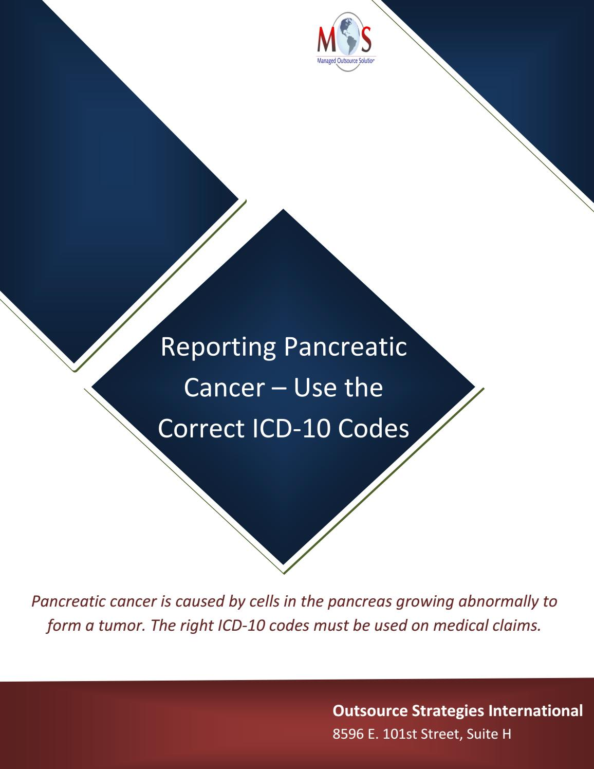 gastric cancer icd 10 code